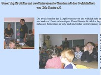 Mai 2009 Unser Tag für Afrika und zwei interessante Stunden mit den Projektleitern von KIDS Kenia e.V. - Regionale Schule mit Grundschule Hiddensee